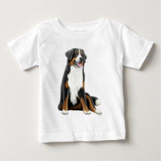 バーニーズ・マウンテン・ドッグの乳児のTシャツ ベビーTシャツ