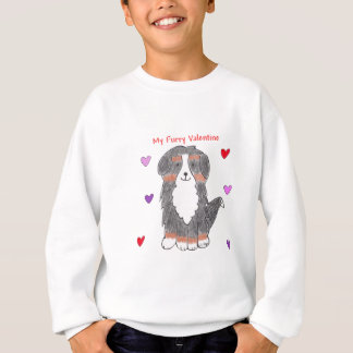 バーニーズ・マウンテン・ドッグの毛皮で覆われたバレンタイン スウェットシャツ