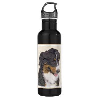 バーニーズ・マウンテン・ドッグの絵画-元の犬の芸術 ウォーターボトル