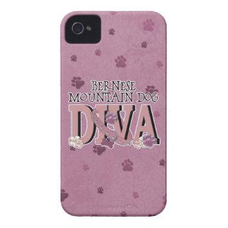 バーニーズ・マウンテン・ドッグの花型女性歌手 Case-Mate iPhone 4 ケース