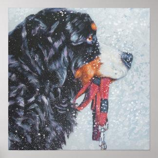 バーニーズ・マウンテン・ドッグの芸術のプリント ポスター
