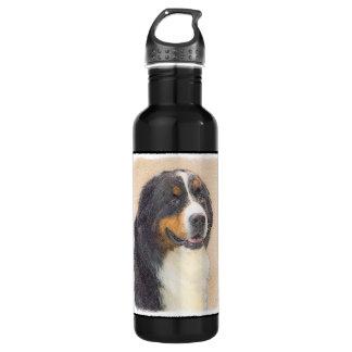 バーニーズ・マウンテン・ドッグ2の絵画-元の犬の芸術 ウォーターボトル