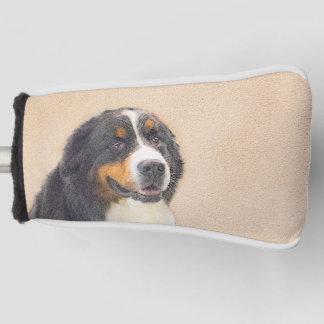 バーニーズ・マウンテン・ドッグ2の絵画-元の犬の芸術 ゴルフヘッドカバー