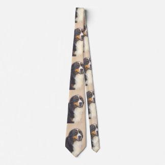 バーニーズ・マウンテン・ドッグ2の絵画-元の犬の芸術 ネクタイ