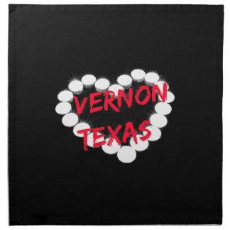バーノン、テキサス州のための蝋燭のハートのデザイン ナプキンクロス