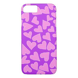 バービーのピンクのハートのiPHONE 7/8の場合との紫色 iPhone 8/7ケース