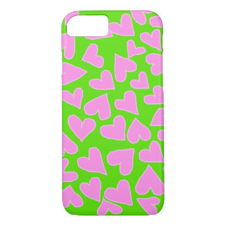 バービーのピンクのハートのiPHONE 7/8の場合と緑化して下さい iPhone 8/7ケース