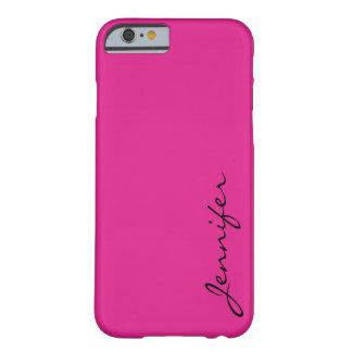 バービーピンク色の背景 BARELY THERE iPhone 6 ケース