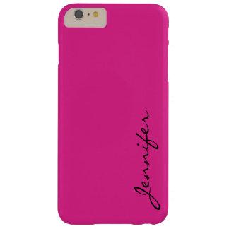バービーピンク色の背景 BARELY THERE iPhone 6 PLUS ケース