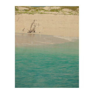 バーブーダのビーチ木芸術 ウッドウォールアート