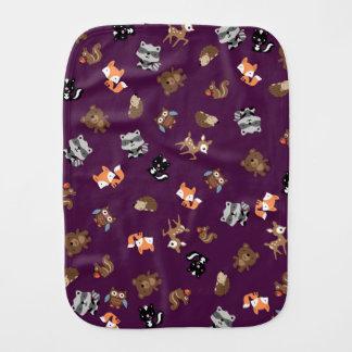 バープクロスの*Purpleの上の森林ベビーのマッシュ バープクロス