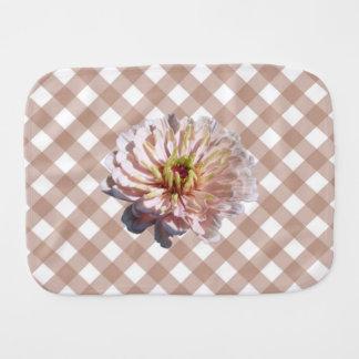 バープクロス-格子の最も淡い色のなピンクの《植物》百日草 バープクロス