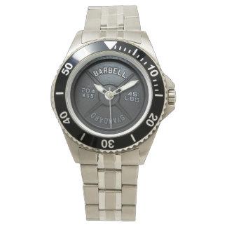 バーベルのプレートの腕時計 腕時計