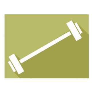 バーベルの重量挙げのトレーニングのTシャツのグラフィック ポストカード