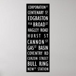 バーミンガムのヴィンテージの運輸スクロールポスター ポスター