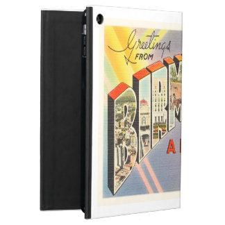 バーミンガムアラバマのALの古いヴィンテージ旅行記念品 iPad AIRケース
