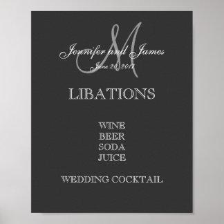 バーメニューの結婚 ポスター