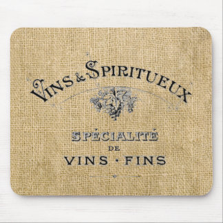 バーラップのフランスワイン マウスパッド