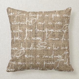 バーラップのフランス人の枕 クッション