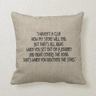 バーラップの一見の伝記の引用文の枕 クッション
