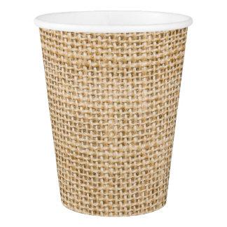 バーラップの素朴なペーパー飲料のコップ 紙コップ
