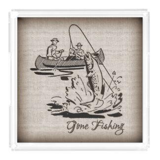 バーラップの行った採取のヴィンテージのカヌーのカヤックの魚 アクリルトレー