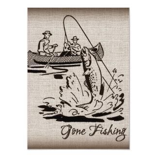 バーラップの行った採取のヴィンテージのカヌーのカヤックの魚 カード