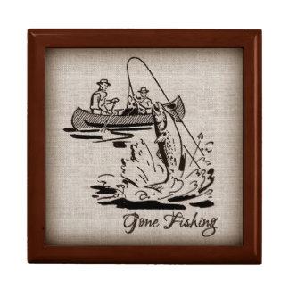 バーラップの行った採取のヴィンテージのカヌーのカヤックの魚 ギフトボックス