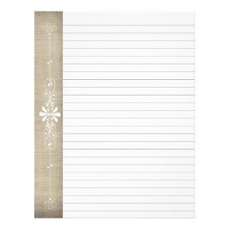 バーラップ板ボーダーブラウン の白によって並べられるページ レターヘッド