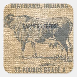 バーラップ牛供給袋 スクエアシール