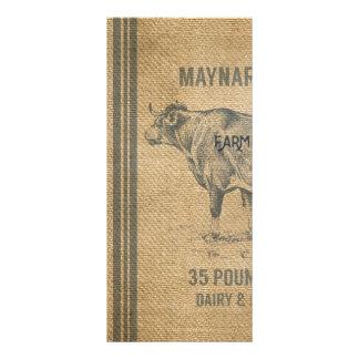 バーラップ牛供給袋 ラックカード