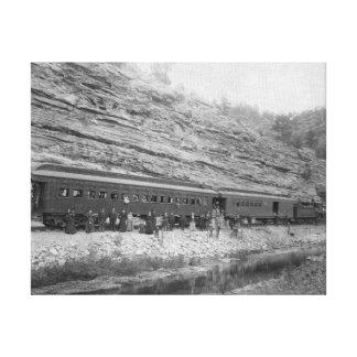 バーリントンおよびミズーリの列車 キャンバスプリント