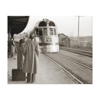 バーリントンの薄地の列車1940年 キャンバスプリント