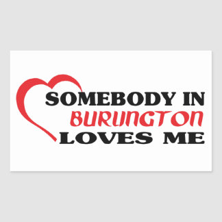 バーリントンの誰かは私を愛します 長方形シール