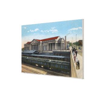 バーリントンの駅の眺め キャンバスプリント