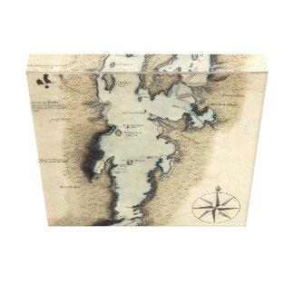 バーリントンヴァーモントの地図1765年 キャンバスプリント