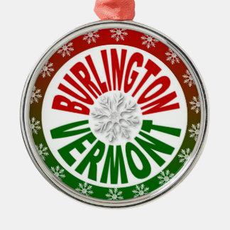 バーリントンヴァーモントの赤い緑の雪片のオーナメント メタルオーナメント