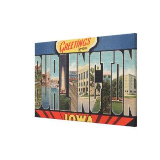バーリントン、アイオワ-大きい手紙場面2 キャンバスプリント