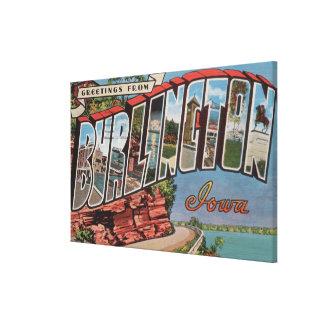 バーリントン、アイオワ-大きい手紙場面 キャンバスプリント