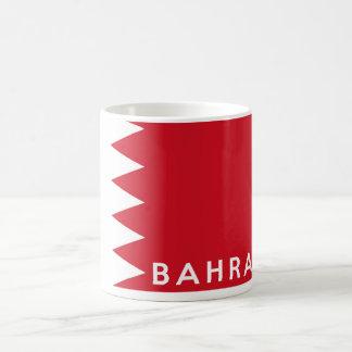 バーレーンの国旗の記号の名前の文字 コーヒーマグカップ