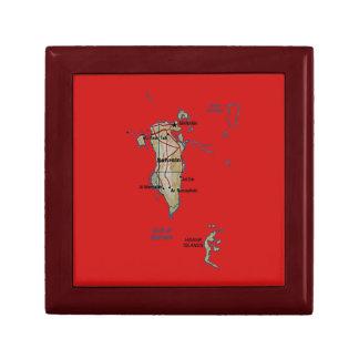 バーレーンの地図のギフト用の箱 ギフトボックス