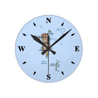 バーレーンの地図の時計 ラウンド壁時計