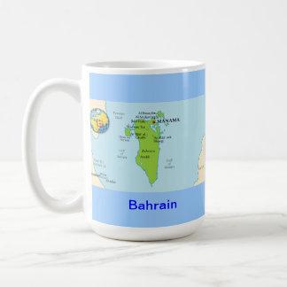 バーレーンの地図及び旗 コーヒーマグカップ