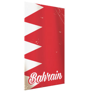 バーレーンの旗のヴィンテージ旅行ポスター キャンバスプリント