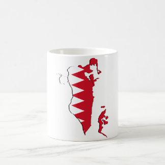 バーレーンの旗の地図BH コーヒーマグカップ