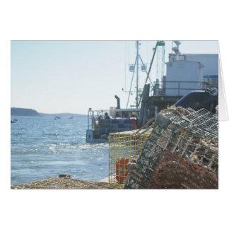 バー港のロブスターの魚釣り カード