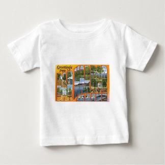 バー港、メインからの挨拶! ベビーTシャツ