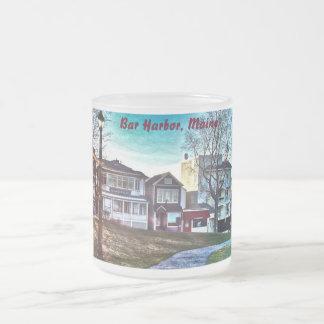 バー港、メインはマグを曇らしました フロストグラスマグカップ