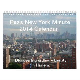 パのニューヨーク分2014のカレンダー カレンダー