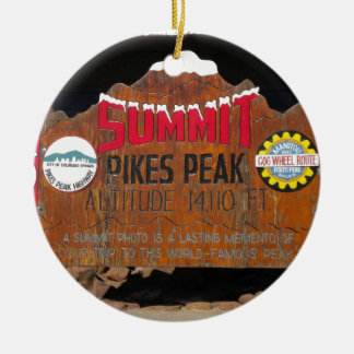 パイクのピーク頂上、コロラド州 セラミックオーナメント